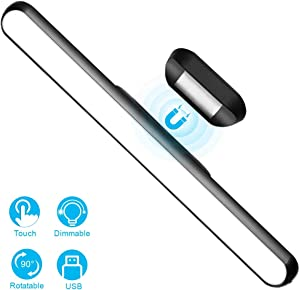 WILLED Dimmable Touch Light Bar, 3W Build-in 2000mAh Battery and Stick Magnet Mount, for Reading, Closet, Cabniet, Makeup Mirror, Bedside, Study Light
