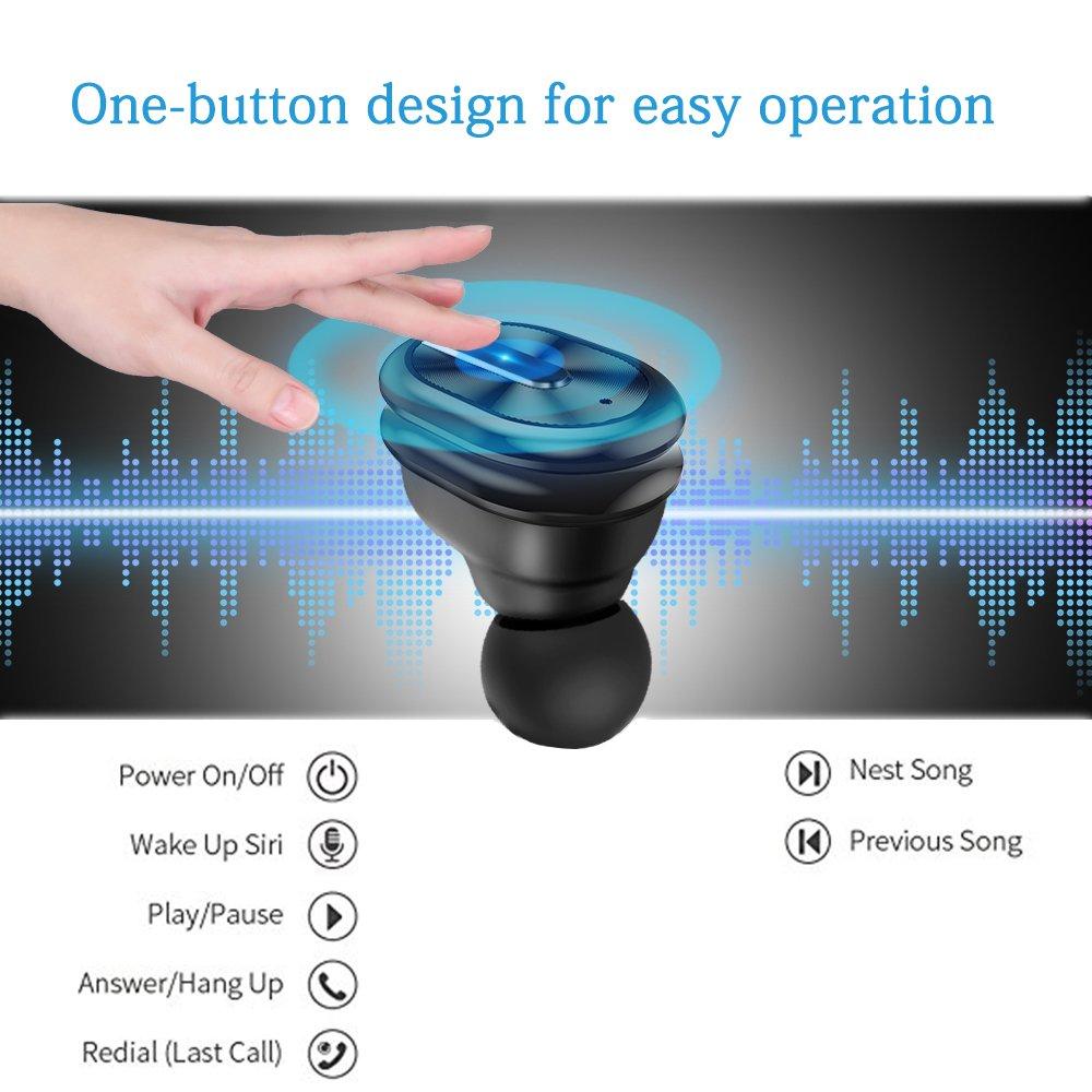 OBEST Auriculares Inalambricos,Auriculares Inalámbricos Bluetooth V4.2 Deportivo In-Ear Headset Tecnología de Estereofonía, Cancelación de Ruido, ...