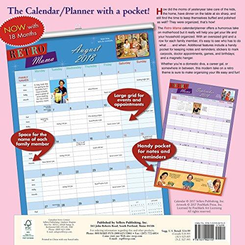 Retro Mama 2018 Wall Planner Calendar (CP0215) Photo #4