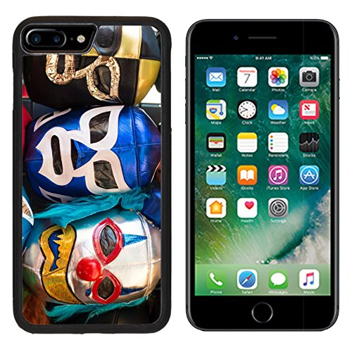 MSD Premium Apple iPhone 7 Plus Aluminum Backplate Bumper Snap Case Arrangement of various colored luchador masks as a background Image ID 23904575 - Best Object Costumes