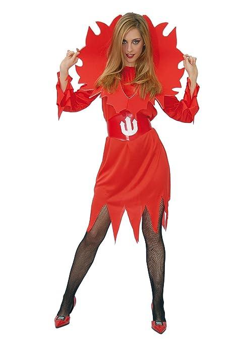 Guirca Costume da Diavolessa con Fiamme per Adulti d080cfbdb7d2