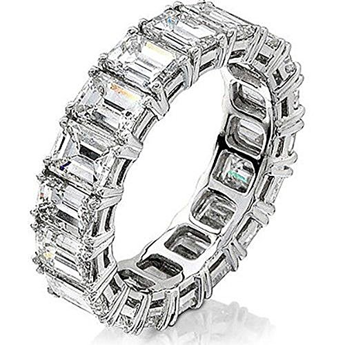Diamond Mansion's Have one to sell? Sell now Details about 8.00ct Emerald Cut Diamond Anniversary Eternity Band G-VS2 0.50ct each (1/2 Carat Emerald Cut Diamond)