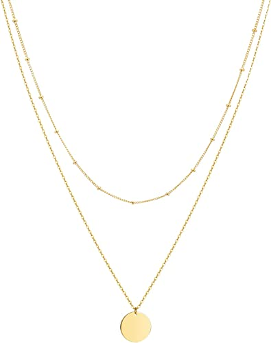 Women/'s//Men/'s Moon Star Pendant Necklace 18k Yellow Gold Filled Fashion Jewelry