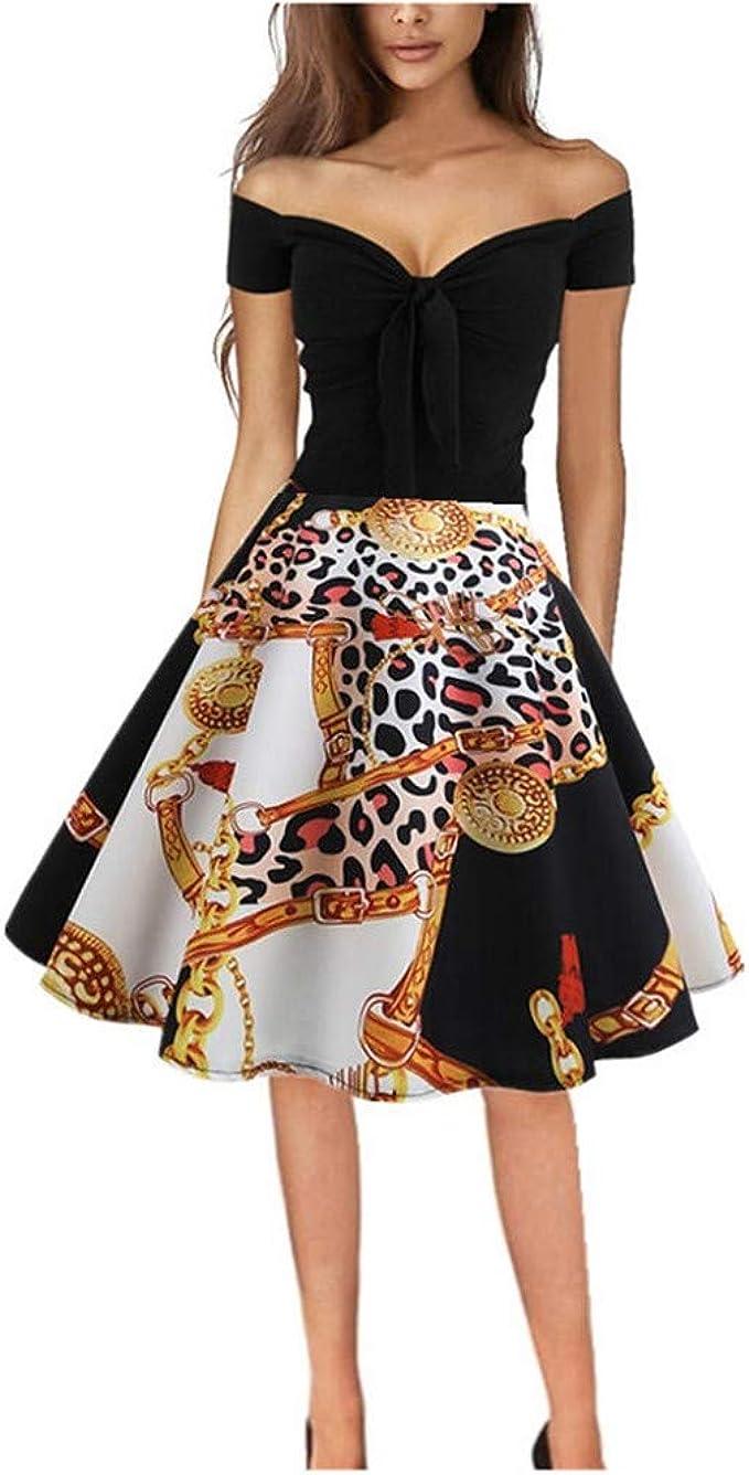 Damen Kleider,V-Ausschnitt Blumen Abendkleid Patchwork Minikleid