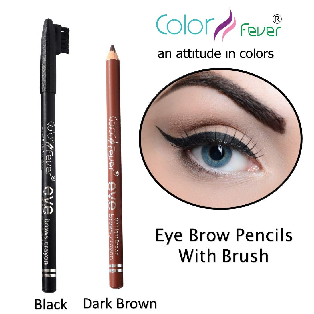 Buy Color Fever Eye Brow Pencil Natural Brown 19g Online At Low