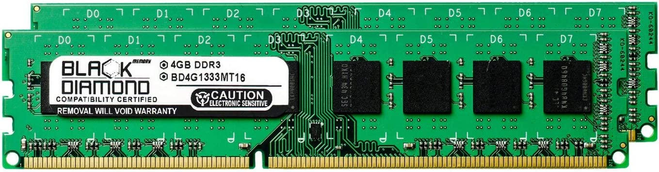 8GB 2X4GB RAM Memory for Acer Aspire Desktop M3470-UC10P DDR3 DIMM 240pin PC3-10600 1333MHz Black Diamond Memory Module Upgrade