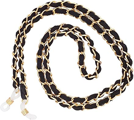 Lux Accessories Metal Chain Link on Cord Chain Necklace