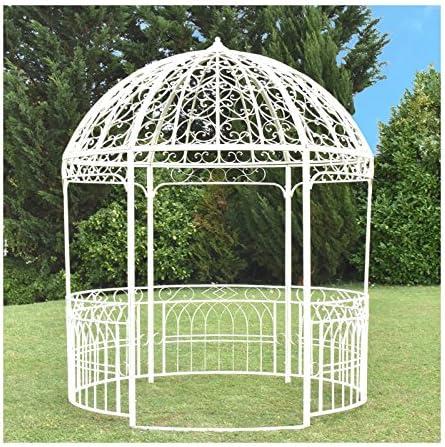Camino de Campaña Gran cenador Gloriette Kiosko Dome Hierro Blanco de Jardín Ø250 cm: Amazon.es: Hogar