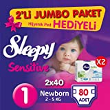 Sleepy 28002790 Çocuk Bezi, Beyaz, 80 Adet