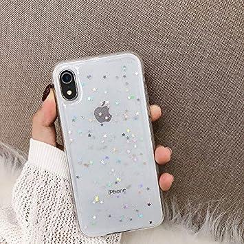 YSIMEE Compatible con Fundas iPhone XR Estuches,Transparente Brillo Brillante Silicona Suave Ultra Fino Delgado Gel Bumper TPU Antigolpes Protectora Carcasas,Estrellas Transparentes: Amazon.es: Instrumentos musicales
