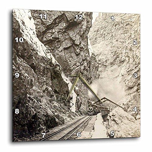 3dRose Royal Gorge Colorado Vintage Steam Train A Rollin Stereoview Wall Clock