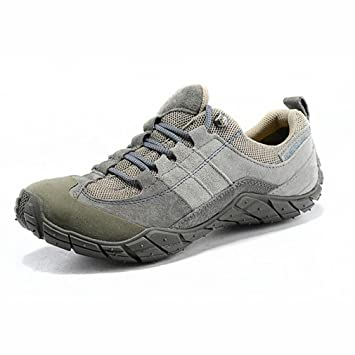 4766f2d39053 Amazon.com : YaXuan Outdoor Hiking Shoes,Mens Leather Low Cut Non ...
