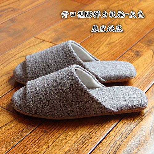 LaxBa Donna Uomo Indoor pattino antiscivolo pantofole 42/43 grigio