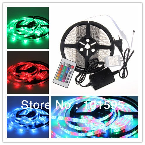 Corcrest(TM) New Waterproof 3528 RGB LED Strip 5M 60leds/m SMD+24key remote+12V 2A Power Adapter Flexible Light by Corcrest (Image #5)