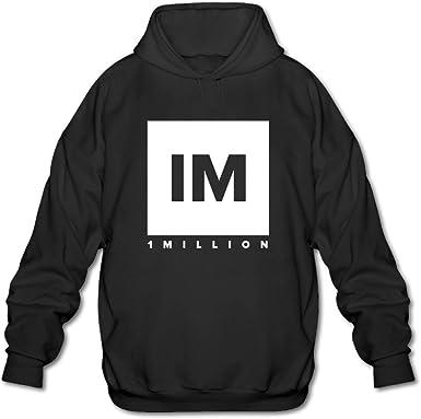 1 MILLION Dance Studio Logo Hooded Sweatshirt Black For Men