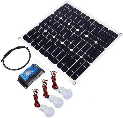 LIUXING Cargador de Panel Solar portátil Panel Solar ...