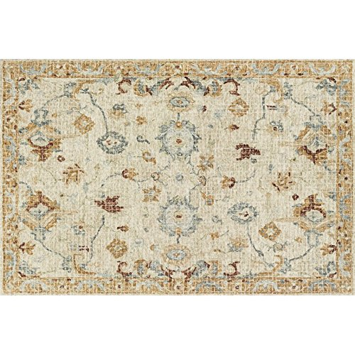 Julian 7'9'' x 9'9'' Hand Hooked Wool Rug in Ivory Area Rug Dining Room Home Bedroom Carpet Floor Mat