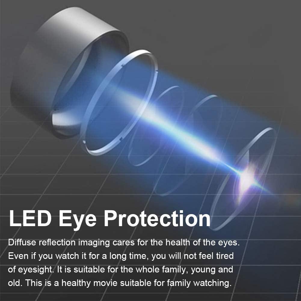 Mini Beamer Tragbarer Heimkino 1080P HD LED Projektor,Mini HD Multimedia Player,Unterst/ützt HDMI//AV//USB//TF mit Stereo Lautsprecher//3.5 mm Audioanschluss