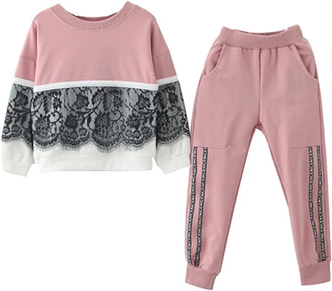 UK Kids Baby Girls Clothes Long Sleeve Dress Sweatshirt Sportwear Autumn Winter