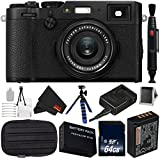 Fujifilm X100F 24.3 MP APS-C Digital Camera Bundle with Carrying Case + 64GB Memory Card - International Version