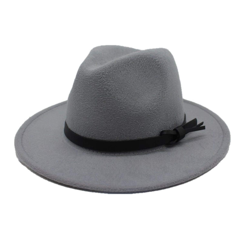 KKONION Fashion Men Fedoras Womens Fashion Jazz Hat Summer Spring Black Woolen Cap Outdoor Casual Hat