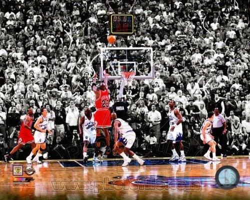 NBA Michael Jordan Chicago Bulls 1998 Finals Game Winning Shot Photo - Nba 1998 Finals Game