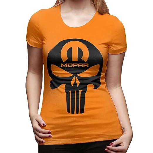 eb01ddbe9401e Amazon.com  NEST-Homer Mopar Logo Women s T-Shirt Short Sleeved Tee Casual  Tops  Clothing