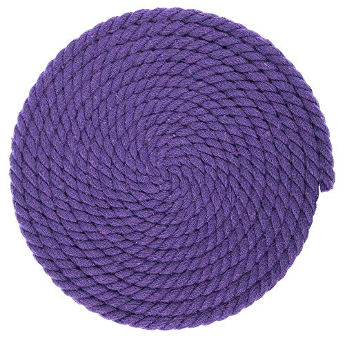 1/4-Inch-Thick Twisted Cotton Macramé Craft Rope – Large Variety of Color and Pattern Options – Lengths of 10, 25, 50, and 100 -