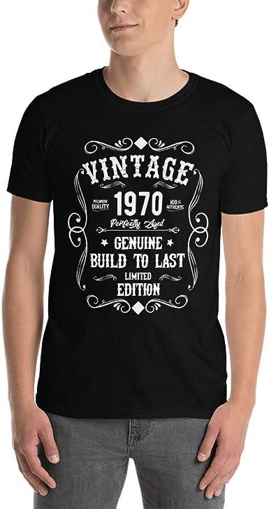 New Dev Vintage 1970 Camiseta 50 Años para Hombre Mujer Personalizada - T-Shirt Regalos Originales de 50 Compleaños: Amazon.es: Ropa y accesorios