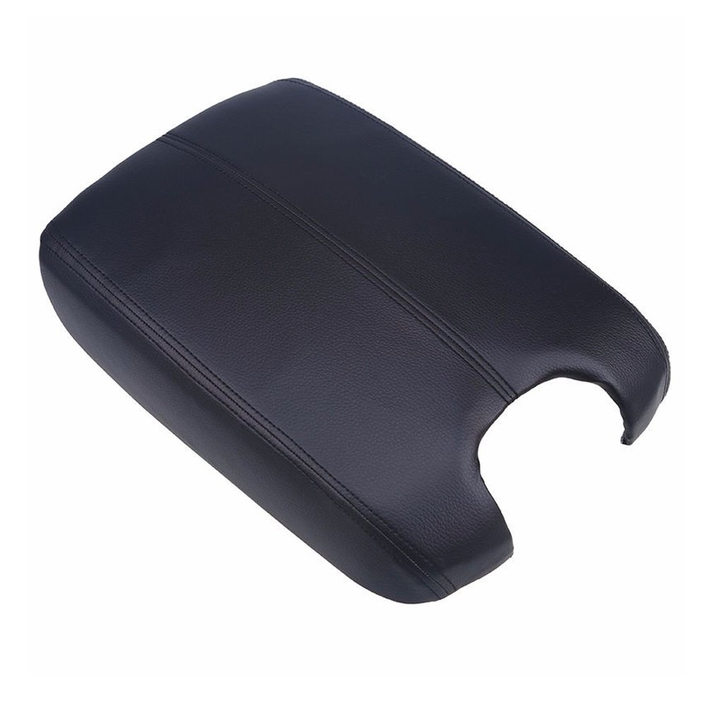 Arotom Armrest Center Console Lid Leather + Plastic Plate For Honda Accord 2008-2012 (Black)