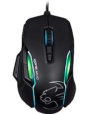 Roccat Kone AIMO Gaming Maus (hohe Präzision, optischer Owl-Eye Sensor (100 bis 12.000 DPI), RGB AIMO LED Beleuchtung, 23 programmierbare Tasten, designt in Deutschland, USB)schwarz
