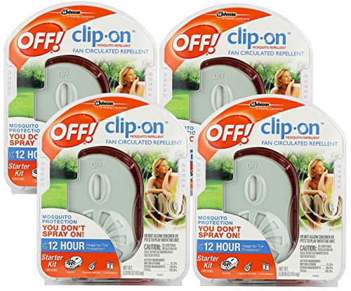 OFF! Clip-on Mosquito Repellent Fan, 4-Pack
