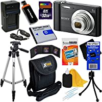 Sony Cyber-shot DSC-W800 20.1 MP Digital Camera with 5x Zoom & Full HD 720p Video, Black (Import) + NP-BN1 Battery & AC/DC Charger + 9pc 32GB Dlx Accessory Kit w/HeroFiber® Gentle Cleaning Cloth Basic Facts Review Image