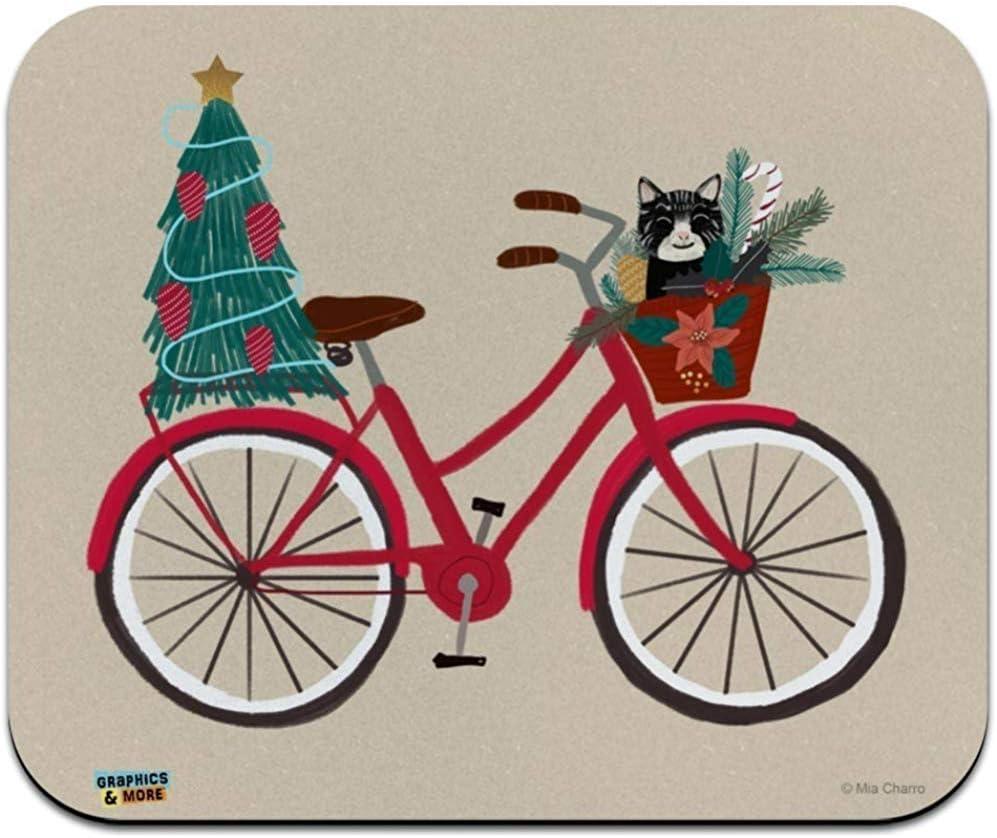 Alfombrilla De Ratón Alfombrilla De Ratón Bicicleta De Navidad ...