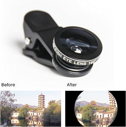 Fisheye Lente de clip on – Adaptador de objetivo para smartphones ...