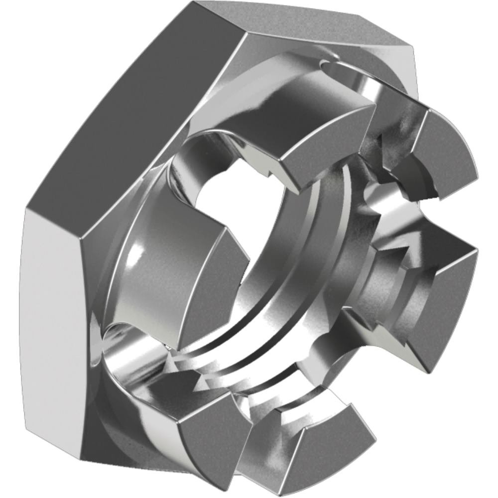 50 Stü ck Kronenmuttern DIN 937 - Edelstahl A2 niedrige Form M10 svh24