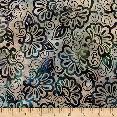 Robert Kaufman Artisan Batiks Terrace 3 Flowers Garden Fabric Fabric by the Yard