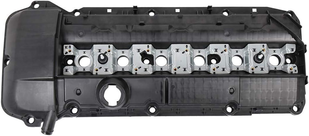 X AUTOHAUX Car Camshaft Engine Valve Cover with Gasket Set 11121432928 for BMW 323Ci 323i 325Ci 325i 325xi 328Ci 328i