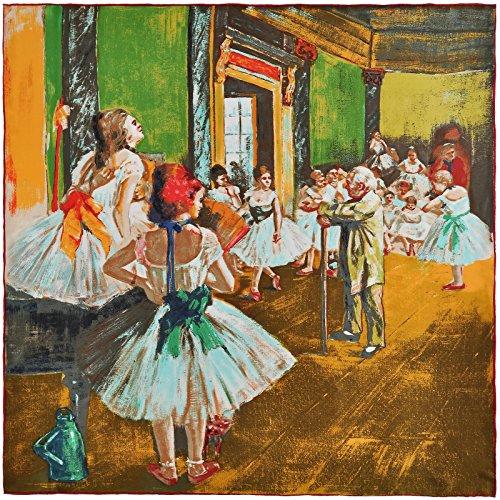 Edgar Clase de Seda baile Cuadrada Silkart 85x85 Cm Degas nTOqfwBq