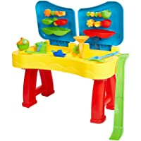 COLOR TREE Sandbox Sand and Water Table Beach Toys Set Beach Play Table Sand for Children