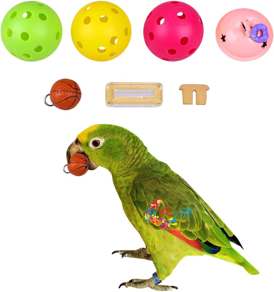 Balacoo Juguete de Baloncesto de Aves Truco de Aves Juguete de Mesa Mini Soportes de Baloncesto Aro Loro Entrenamiento de Inteligencia Educativa Juguete Masticable