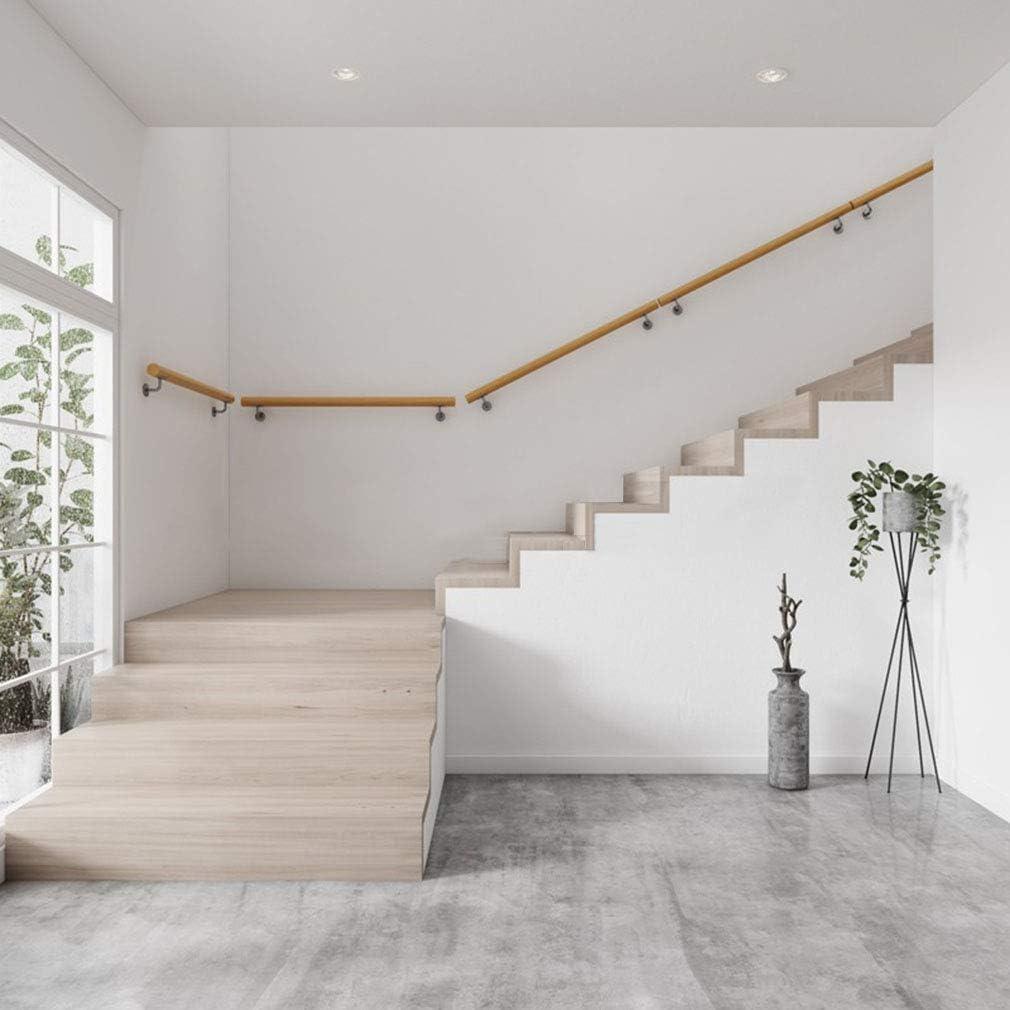 木製の階段手すり手すり手すりの完全なキット-長さを選択:50〜600 cm   バスルームバランスバードアハンドルサポートロッドグラブレール  壁に取り付けられた手すりの手すり