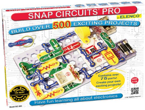 Snap Circuits PRO SC-500 Electronics Exploration Kit | Over 500 STEM Projects | 4-Color Project Manual | 75+ Snap Modules | Unlimited Fun -