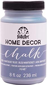 FolkArt 36038 Home Decor Chalk Furniture & Craft Paint in Assorted Colors, 8 ounce, Nantucket Blue