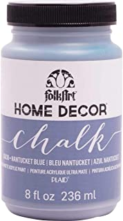 product image for FolkArt 36038 Home Decor Chalk Furniture & Craft Paint in Assorted Colors, 8 ounce, Nantucket Blue