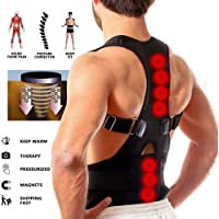 Unisex Magnetic Back Brace Posture Corrector Therapy Shoulder Belt for Lower and Upper Back Pain Relief posture corrector for men women back support belt for back pain - Free Size
