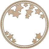 Matrices de découpe dies Scrapbooking 2pcs Circle Stars Gold cutting Decoupage Pochoir Stencil Card Album Bricolage en Aicer carbon