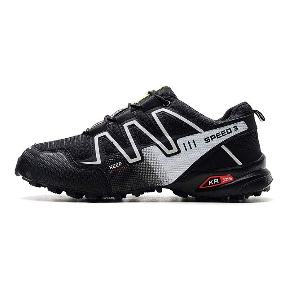 YSZDM Herren Wanderschuhe, Wanderschuhe Leichte Outdoor Slip-on-Turnschuhe für atmungsaktive Kletterschuhe,schwarz,45