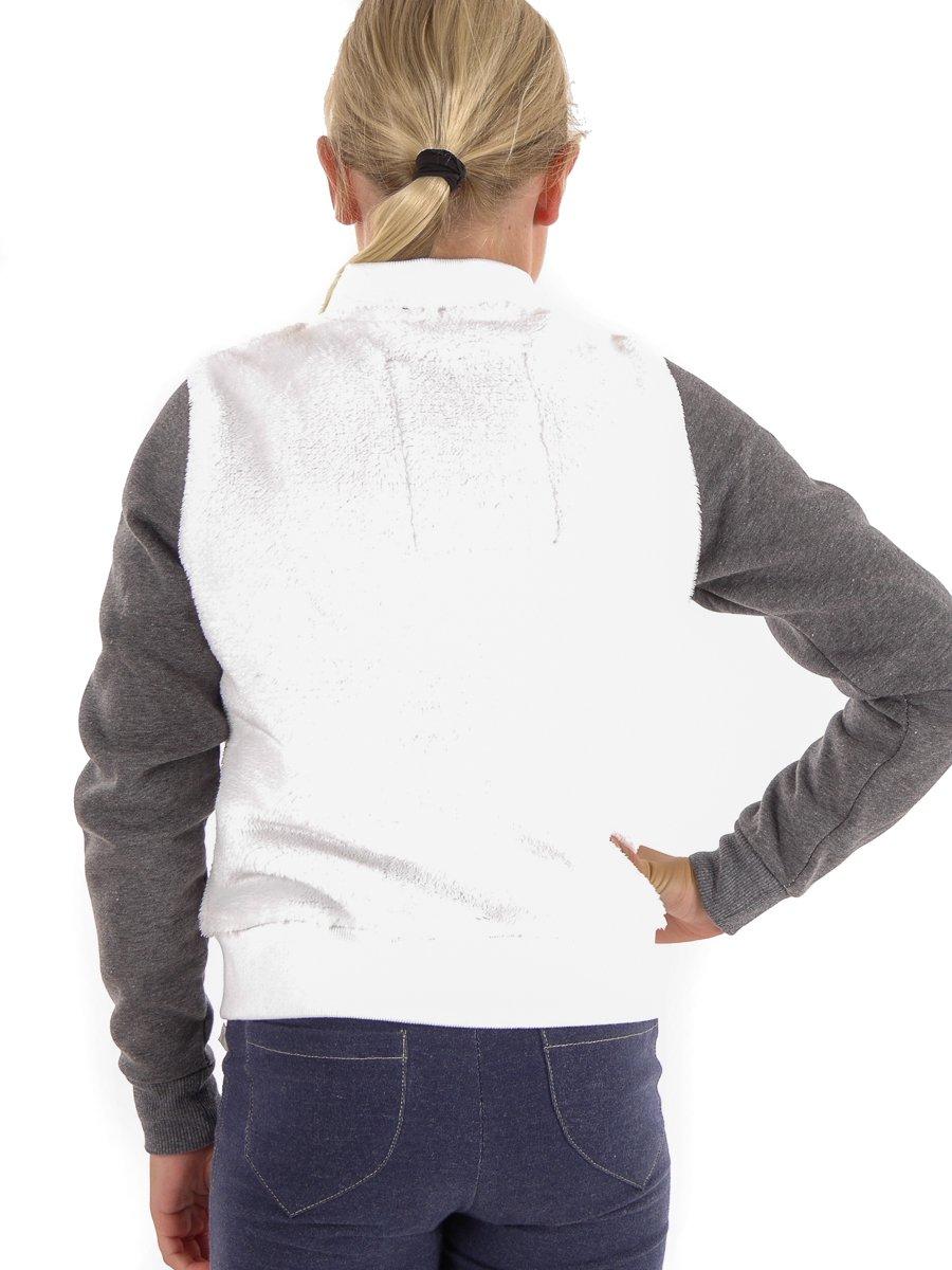 Brunotti Giacca in Pile Giacca ystica Bianco Traspirante Tasche Bambine e ragazze