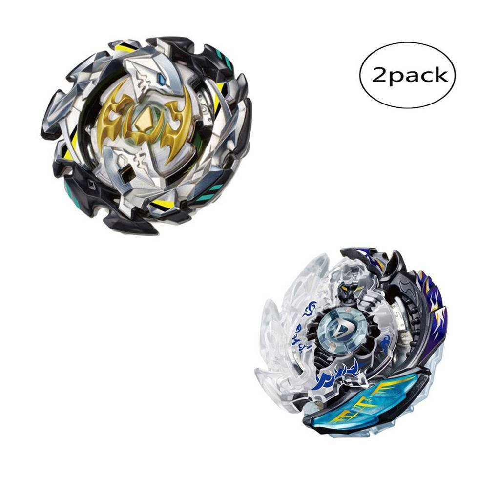 WenJie [2 Pack] Beyblade Burst - Personally Assemble to Improve Your Child's Manual Ability - Stamina Type - 2 X Combat Combination ( 2 Beyblade + 2 Launcher ) - b85+b106